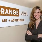 Orange label advertising